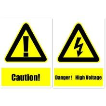 Предупреждение ющий знак безопасности наклейка s для компании школы гостиницы торговый центр Винил дешевые наклейки 15x20 см опасности высокого напряжения
