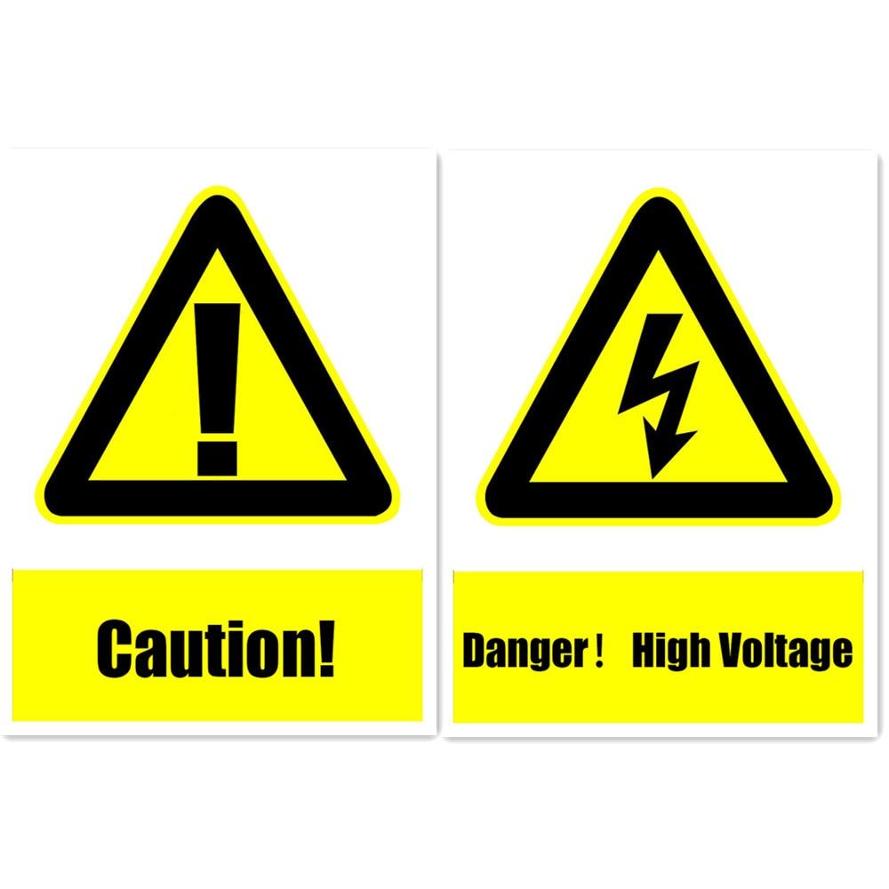 Предупреждение Детская безопасность знак Наклейки для компании школ Отели ТРЦ Винил дешевые Стикеры 15x20 см Опасность высокого напряжения