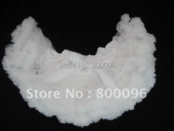 Оптовая продажа фея юбки дети белый носовой части девушки пачка юбки для свободного покроя PETS-008