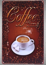 1 pc Espresso Cappuccino latte coffee  shop Italian Tin Plate Sign wall plaques man cave Decoration Dropshipping metal Poster
