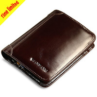 Brand Men Wallets Leather Coin Pocket Fashion Cowhide Purses Short Tri fold Classic Card Holder Cartera Hombre Quality Guarantee