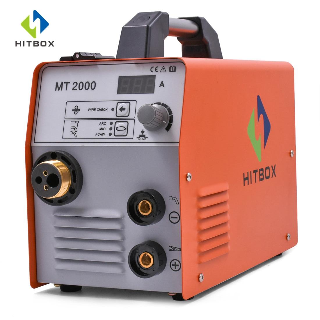 HITBOX Mig Welder MIG ARC TIG 220V Stainless Steel Iron Welding Machine MT2000 Functional Gas Gasless