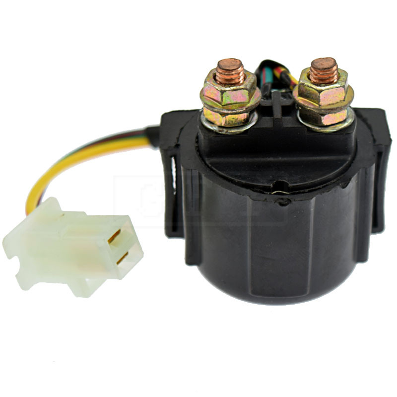 For <font><b>Yamaha</b></font> <font><b>XT600</b></font> XV500K XV920 XVZ12 XZ550 YFA1D YFB250 YFM350FWJ_MNH 12V Starter Solenoid Lgnition Key Switch Starting Relay image