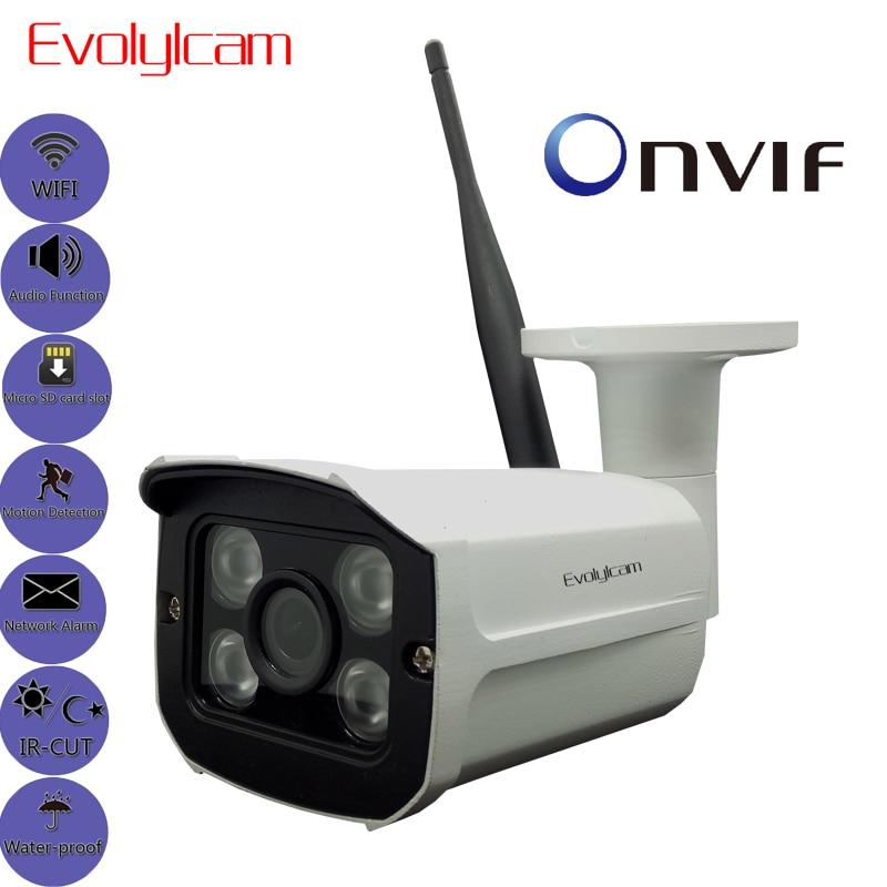 Evolylcam Audio Sony Imx323 Sensor Draadloze 1080P 2MP Micro SD/TF Card Slot IP Camera WiFi P2P Onvif beveiliging Outdoor CCTV Cam-in Beveiligingscamera´s van Veiligheid en bescherming op AliExpress - 11.11_Dubbel 11Vrijgezellendag 1