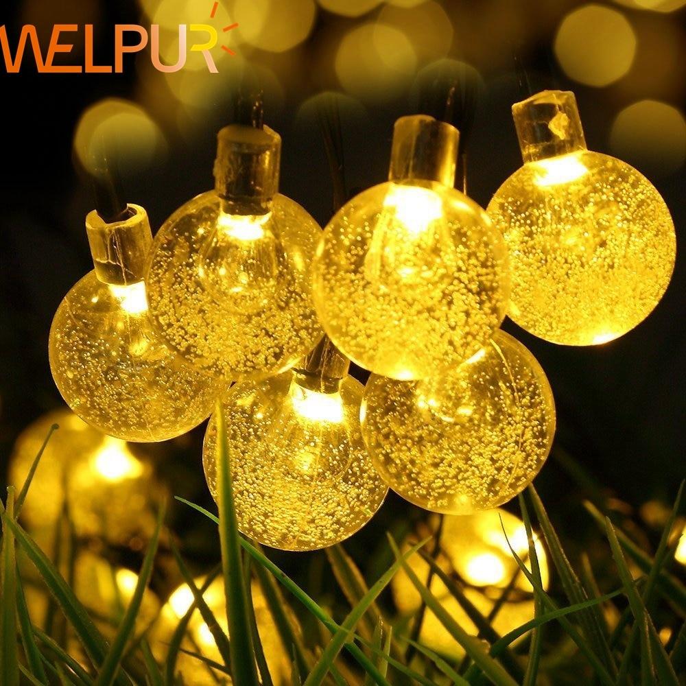 String Lights Led Garland 10M 20M AC220V 110V Globe Ball Fairy Light String Garden Christmas Wedding Party Holiday Decor Outdoor