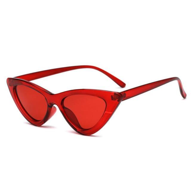 Sexy Retro Cat Eye Sunglasses Women Small Black White Triangle Vintage UV400 4