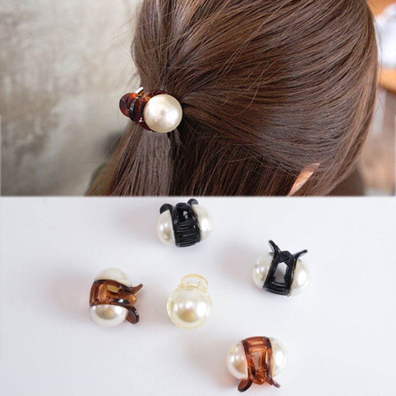 New Girls Pearl Mini 1PC Hair Claw Barrettes Women Hair Crab Hair Claws