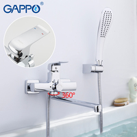 GAPPO bathtub faucet bathroom Bathtub Mixer brass chrome bath faucets Wall Mounted bathtub Spout bath mixer water taps