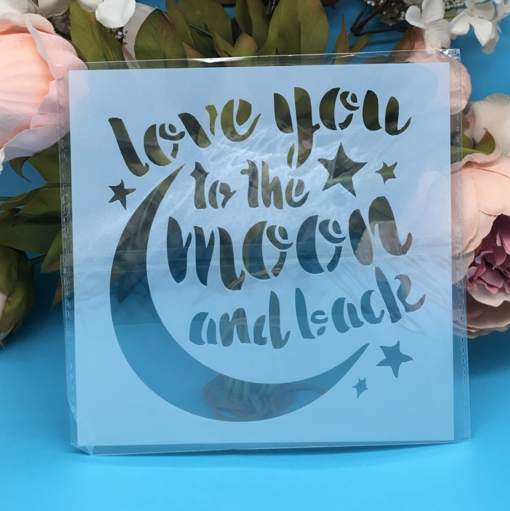 5.9inch New Moon Words DIY Layering Stencils Wall Painting Scrapbook Coloring Embossing Album Decorative Paper Card Template