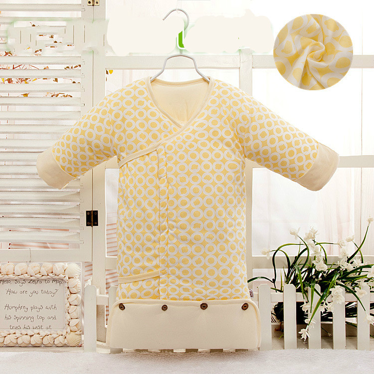 0-3 months infant newborn baby infant cotton cotton lace thickened children sleeping bag in autumn and winter