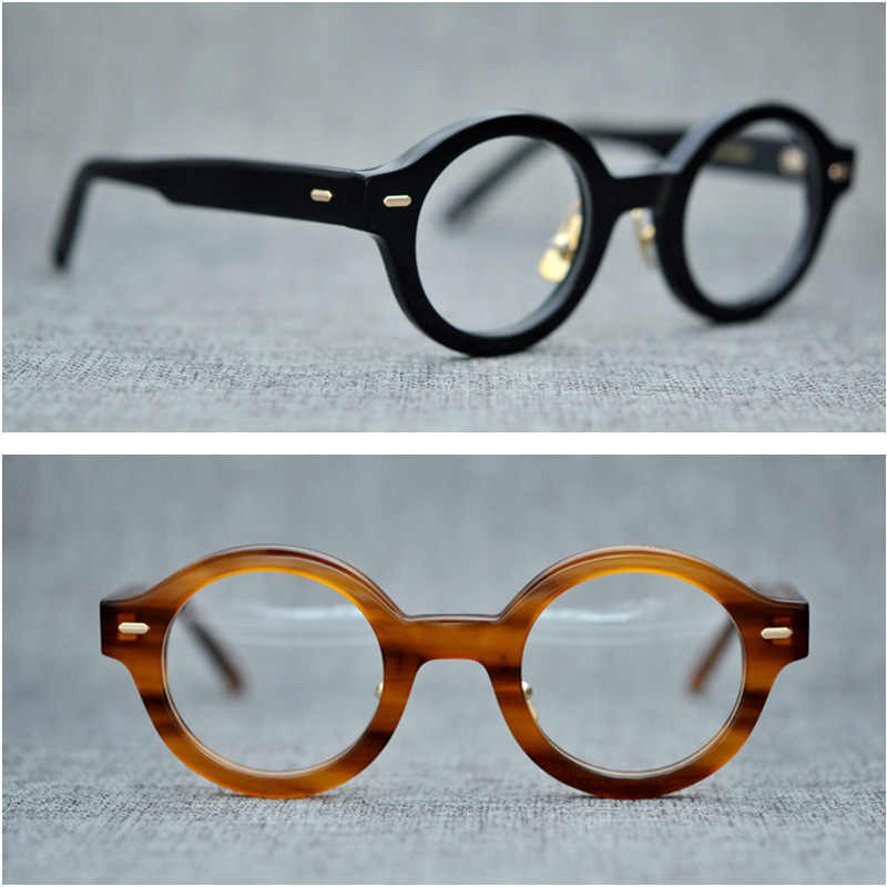 b971694aa42 Vazrobe Acetate Glasses Men Women Small Round Eyeglasses Frames Man Female  Vintage Tortoise Eyeglass Prescription Myopia