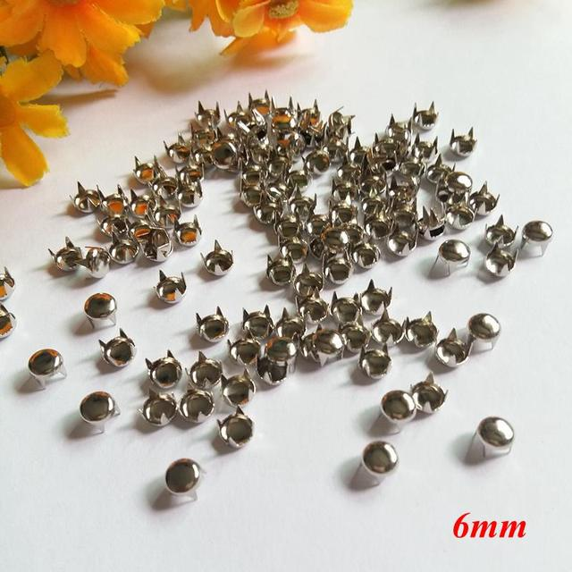 300 pcs Punk 5mm Round decoration Spike Rivet Studs Spots For Clothing Spikes rivets and studs Rivets for handbag