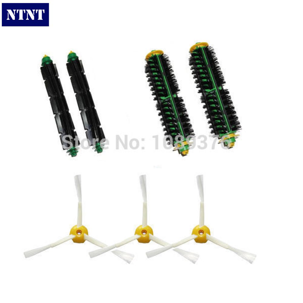 NTNT Free Shipping Brush 3 Armed Side Vacuum parts kit Clean for iRobot Roomba 500 Series ntnt free post new side brush filter 3 armed kit for irobot roomba vacuum 500 series clean tool
