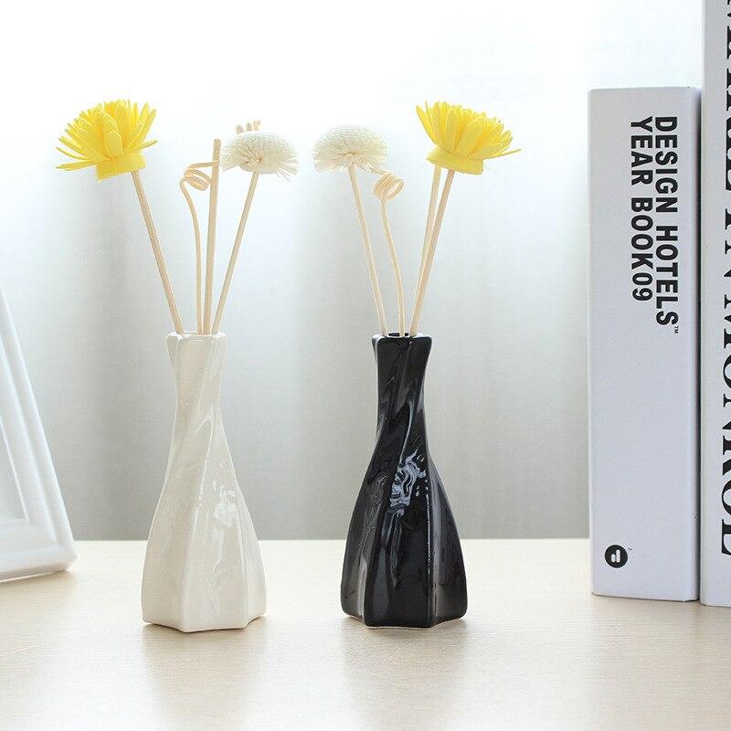 Wohnkultur 50 Ml Parfüm Reed Diffusor Keramik Flasche Rattan Stick Jasmin Aromatherapie Düfte Aromatische Öle Sets Aroma Zimmer J028-12 Haus & Garten