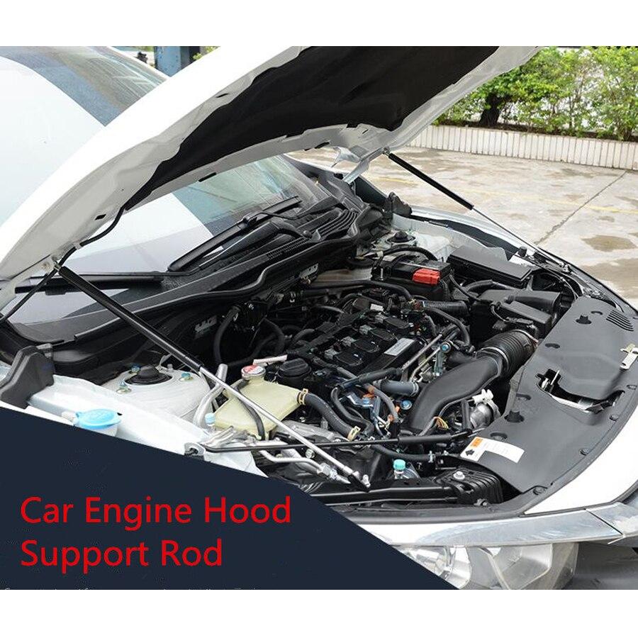 2x capot de moteur avant de voiture couvercle de levage ouvert Support hydraulique tige Prop bâton pour Honda Civic 2016 2017 accessoires Auto