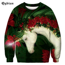 8bab08d6d297 2018 Harajuku New autumn Spring Horse flower 3D printed Hoodie Sweatshirts  Men Women young Hoodie Sweatshirt Pullover Hip Hop