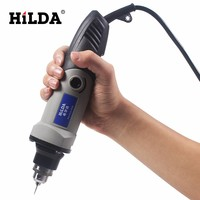 HILDA 220V Electric Variable Speed Rotary Tool Mini Drill Variable Speed Rotary Tool Electric Tools 400WMini Drill 6 position