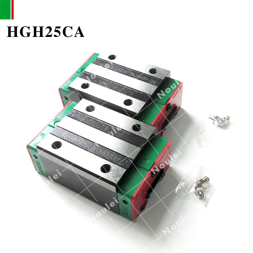 HIWIN HGH25CA linear guide rail slider for 25mm diy cnc rails High efficiency HGH25 2 pcs free shipping to argentina 2 pcs hgr25 3000mm and hgw25c 4pcs hiwin from taiwan linear guide rail