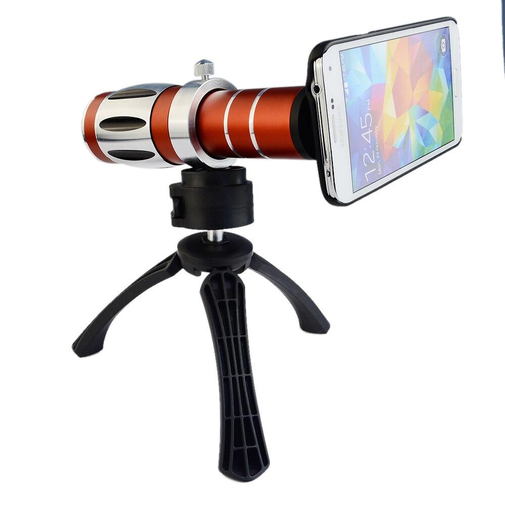 Handy universal 20x camera zoom optische teleskop aluminium teleobjektiv kit + stativ für iphone5 6 samsung htc blackberry - 3