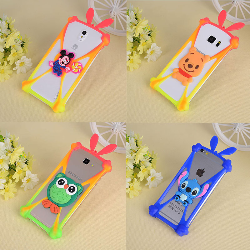 Cute Cartoon Silicone Universal Cell Phone Holster Cases Fundas For Fly IQ239 ERA Nano 2 Case Silicon Coque Cover Bumper