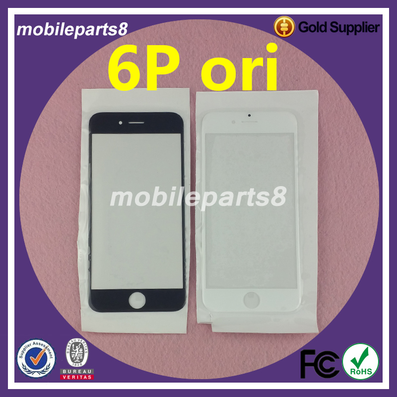 10pcs/lot Fress shipping fee touch screen glass (not digitizer)for iPhone 6 plus Front Screen Outer Glass Replacement ori