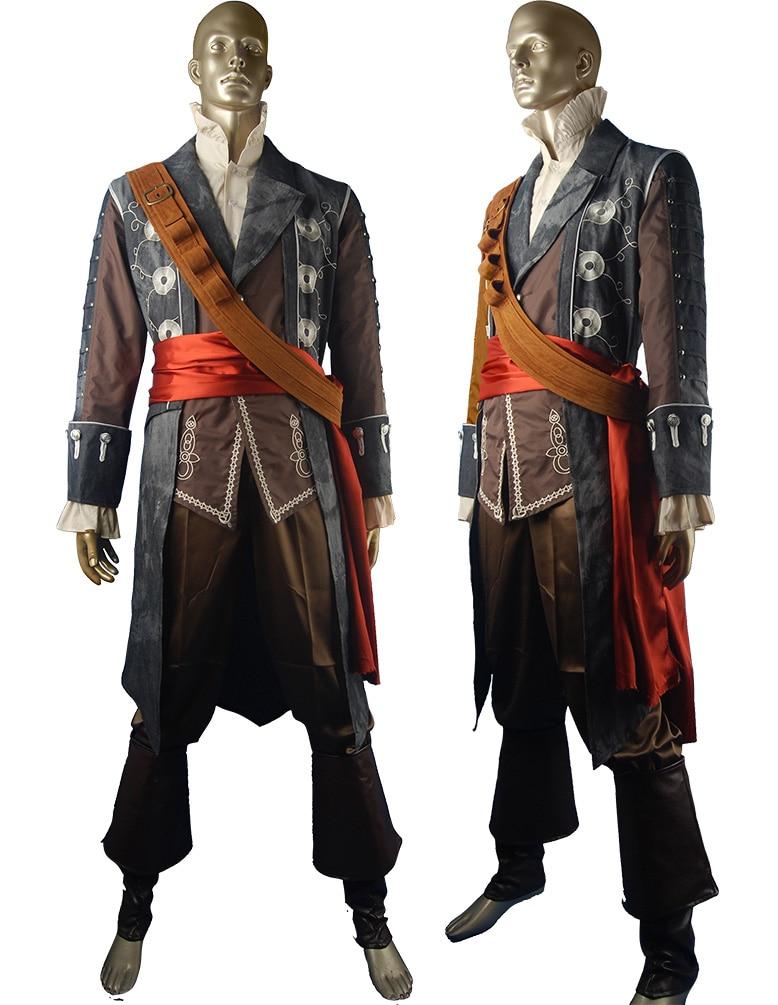 Pirata Blackbeard Edward Teach cosplay disfraz de halloween traje de - Disfraces