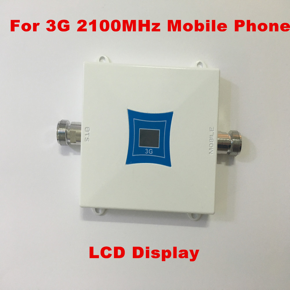 1PC LCD Family 3G WCDMA 2100MHz 2100 60db Mobile Phone Signal Booster Signal Repeater Cell Phone Amplifier Enhancer Cover 200m2