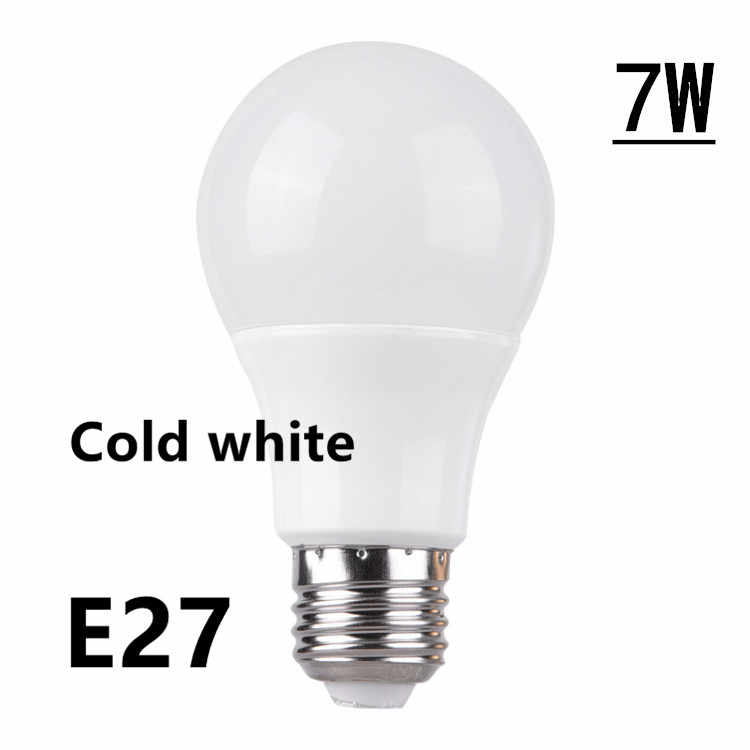 Cold White LED E14 LED Lamp E27 LED Bulb AC 220V 230V 240V 15W 12W 9W 6W 3W Lampada LED Spotlight Table Lamp Lamps Light