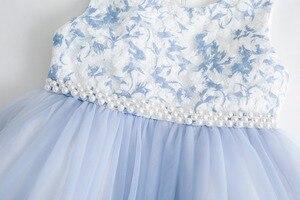 Image 4 - Cielarko Girls Dress for Birthday Wedding Party Flower Girl Dresses with Pearls Beading Sleeveless Kids Ball Gown Toddler Frocks