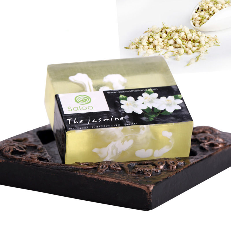 Whitening Hydrating Jasmine Cloud Oil Handmade Soap Cleansing 100g Moisture Enzyme Crystal Body Whitening Genitals Pink Areola