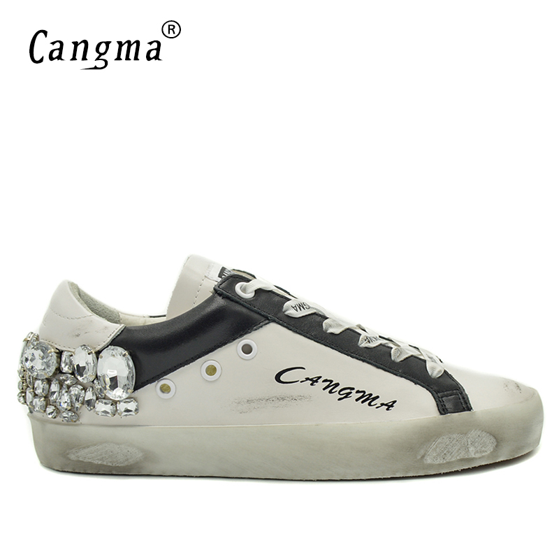 CANGMA Diamond Shoes Men Sneakers Fashion Casual Silver Crystal Mens White Trainers Shoes Breathable Stylish Russian Footwear stylish men s casual shoes with breathable and metal design