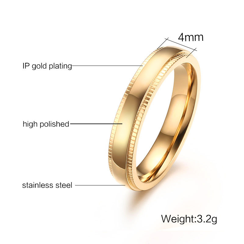 gold band for s bands men yellow unique women matte flat mens pipe tungsten finish ring comfort cut products brushed wedding fit