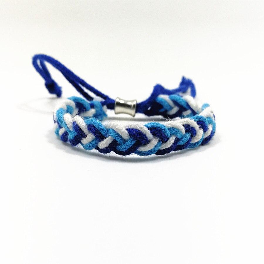 cordón de algodón étnico trenzado pelado estudiante pulseras - Bisutería - foto 2