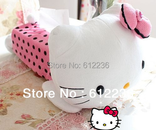 Tissue cover cut hello kitty design soft plush towel cover beautiful Household Sundries hot sale high quality new arrival