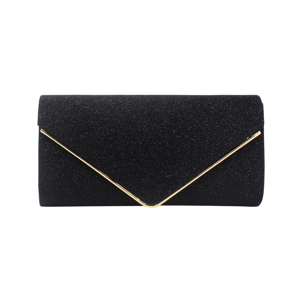 popular European American style clutch bags lady woman girl female flash material shiny envelope purses