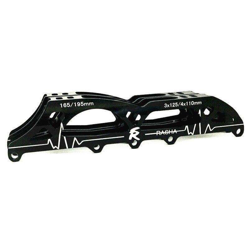 Prix pour 2-en-1 inline frame3 * 125 MM noir couleur inline cadre de patinage de vitesse inline patinage châssis en aluminium vitesse skate tenir cadre