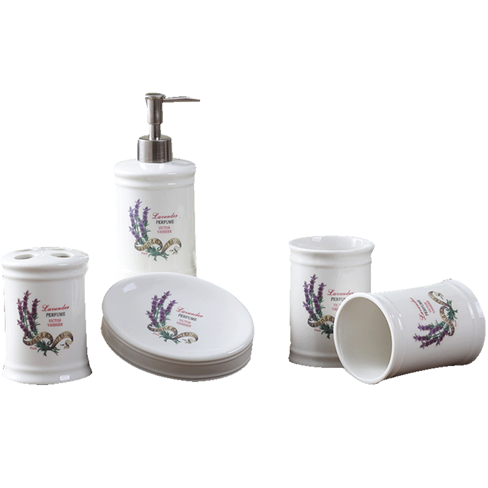 A1 Nordic ceramic wash lavender five-piece cup set bathroom ware wash set bathroom set lo88237 five little monkeys wash the car