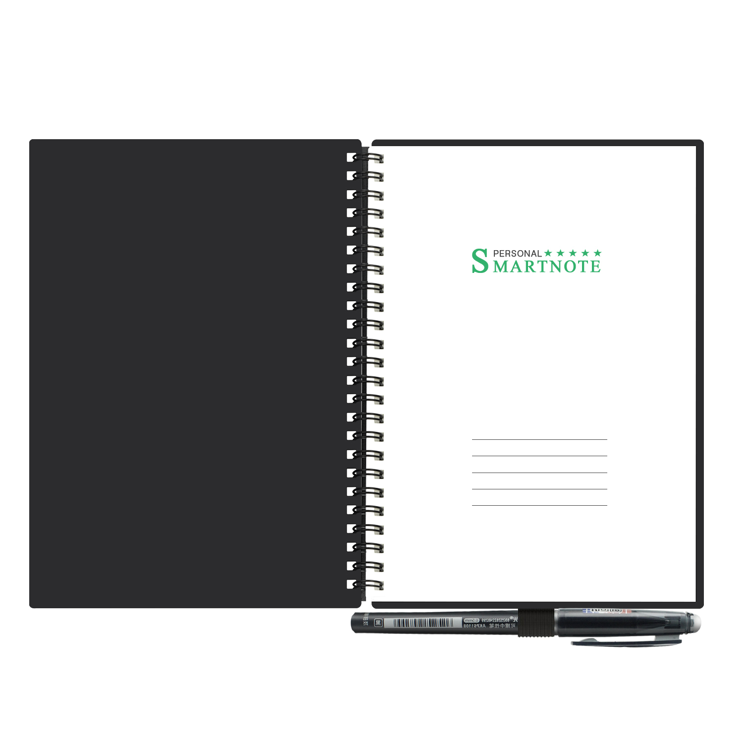 Reusable Erasable Notebook B5 Microwave Wave Cloud Erase Notepad Smart Notebook Note Pad Lined With Pen