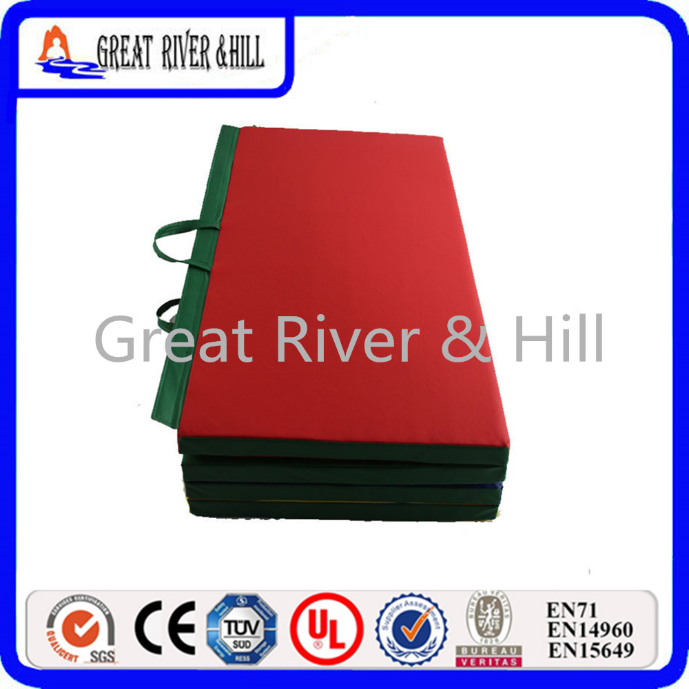 Great River Hill Outdoor Folding Gymnastics Mat Gymnastics Floor Mat Exercise Fitness Pilates Gym P with size 8ftx4ftx2inch gymnastics mat thick four folding panel fitness exercise 2 4mx1 2mx3cm