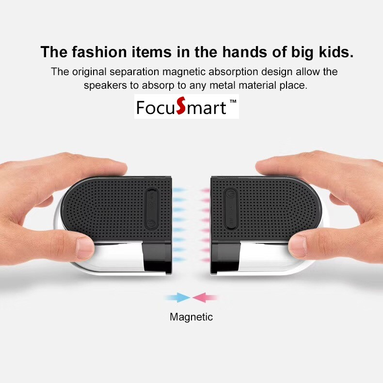 FocuSmart100%Original New OVEVO D18 Dual Wireless Bluetooth Speaker Mini Magnetic suction 360 degree portable outdoor speakers portable magnetic floating speaker wireless stereo rotating 360 degree speakers magnetic levitation wireless bluetooth speaker