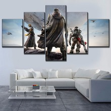 5 Pieces Game Destiny Role Back Shadow Poster Modular Art Pictures Modern Home Decoration Canvas Print Type Painting Framework