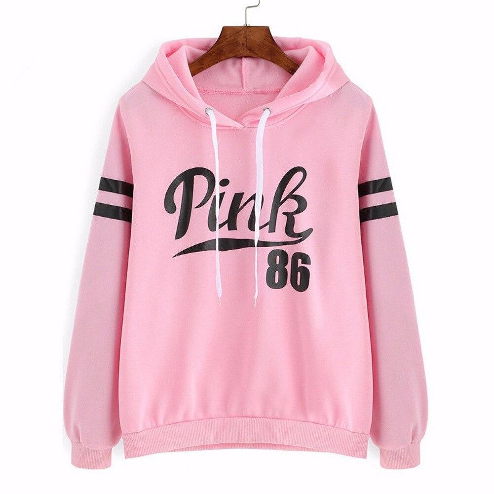 Pink 86 Print Pop Women Hoodies Sweatshirts Hoodies Outwear Hip-Hop Girl's Jimin Clothes