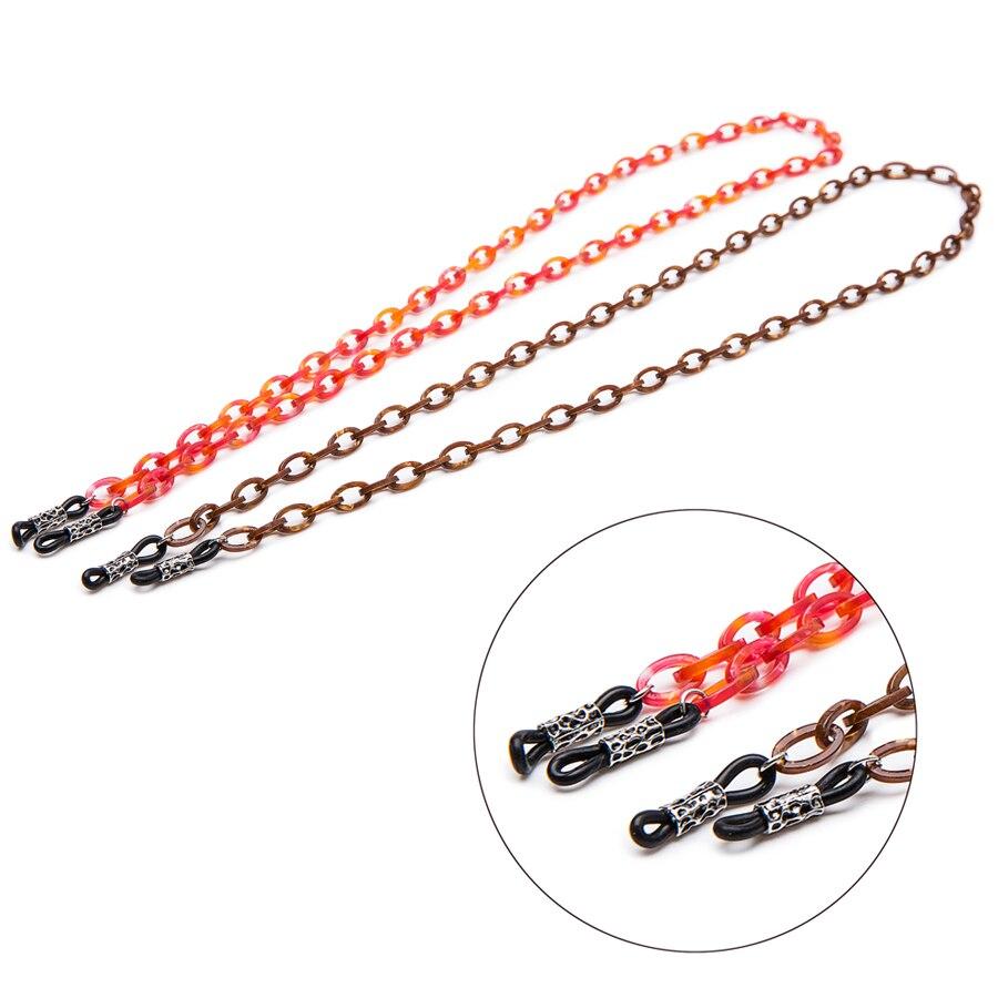 10 PCS écaille couleur acétate boucle lunettes de soleil chaîne Demi cou cordon  chaîne de retenue brun Foncé lunettes strap cordon porte 6d3609f3951b