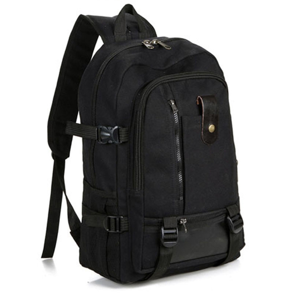 Outdoor Climbing Sports Bags Black Multifunction Men Army Color Vintage Design Travel Camping Backpack Casual Canvas Backpacks