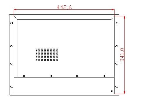 8U 17 inci Rack Mount panel pc, Core i3-3217U CPU, 4GB RAM, 500GB - Industri komputer dan aksesoris - Foto 4