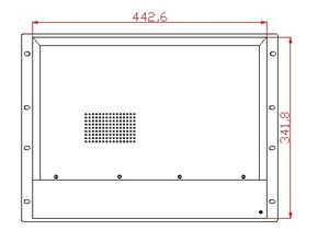 Image 4 - Pc de panneau de bâti de support de 8U 17 pouces, CPU de i3 3217U de noyau, RAM de 4 GB, disque dur de 500 GB, 5 * COM, 6 * USB, pc industriel de panneau de 17 pouces, OEM/ODM