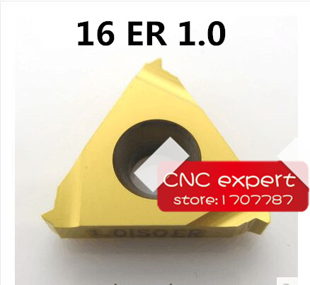 16ER 1.0 ISO Carbide Threading Inserts External Threading Insert Indexable Lathe Inserts For Threaded Lathe Holder