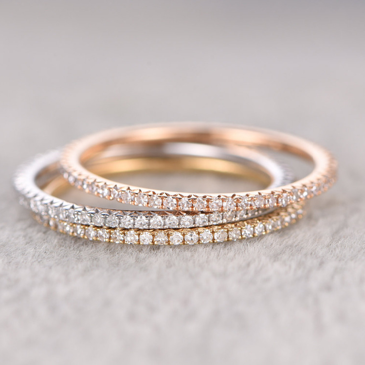 gold women for with nl anniversary white infinity wedding rose in band rg eternity jewelry diamond