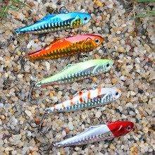 5PCS/Lot 24g 7.5cm VIB fishing lure hard bait winter ice sea fishing shop diving swivel jig wobbler lure sink