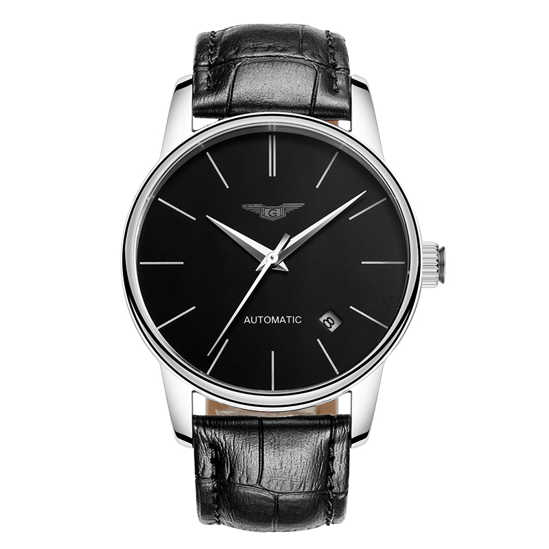 GUANQIN GJ16056 watches men luxury brand Japan MIYOTA automatic mechanical watch waterproof thin leisure trend leather belt guanqin gj16056 watch women luxury brand japan miyota mechanical watch leather automatic ultra thin watch female watch couple
